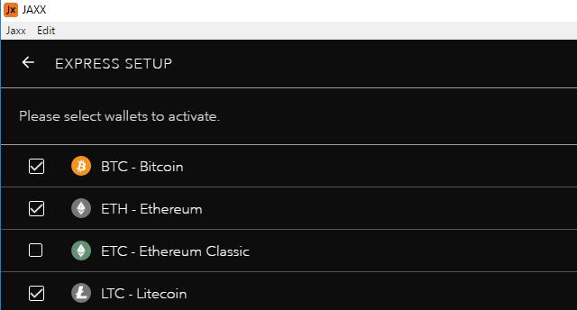 Jaxx bitcoin wallet setup