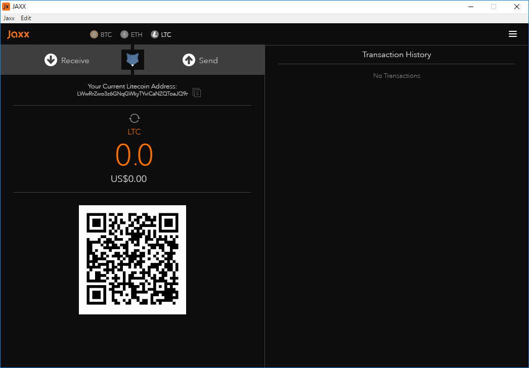 Jaxx bitcoin wallet